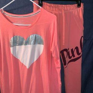 PINK/VS lounge/pajama outfit